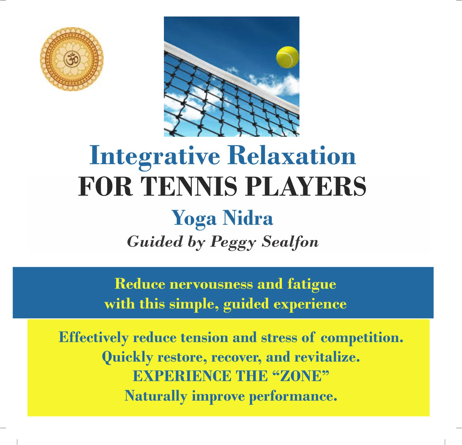 Integrative Relaxation for Tennis Players