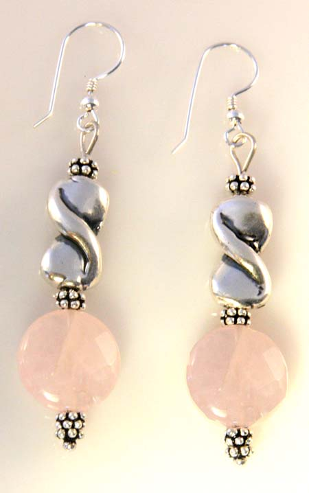 Silver Rose Relaxation Earrings